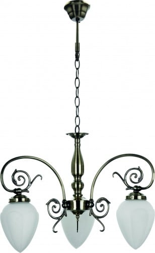 Classic 3-arm chandelier for the Bossa E14 60W