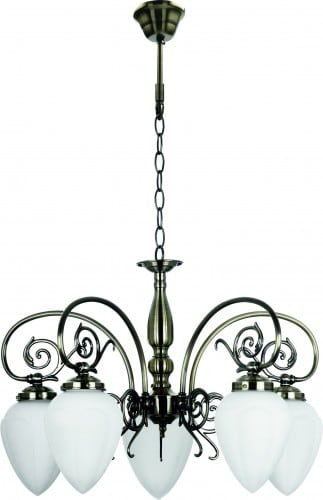 Classic Chandelier for the Boss Patina 5 x E14 60W