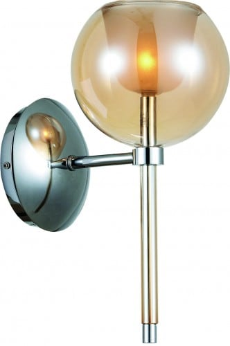 Modern wall lamp Bellissima chrome / champagne G4 20W