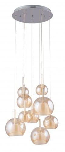 Nine-point Bellissima chrome / Champagne G4 20W pendant lamp