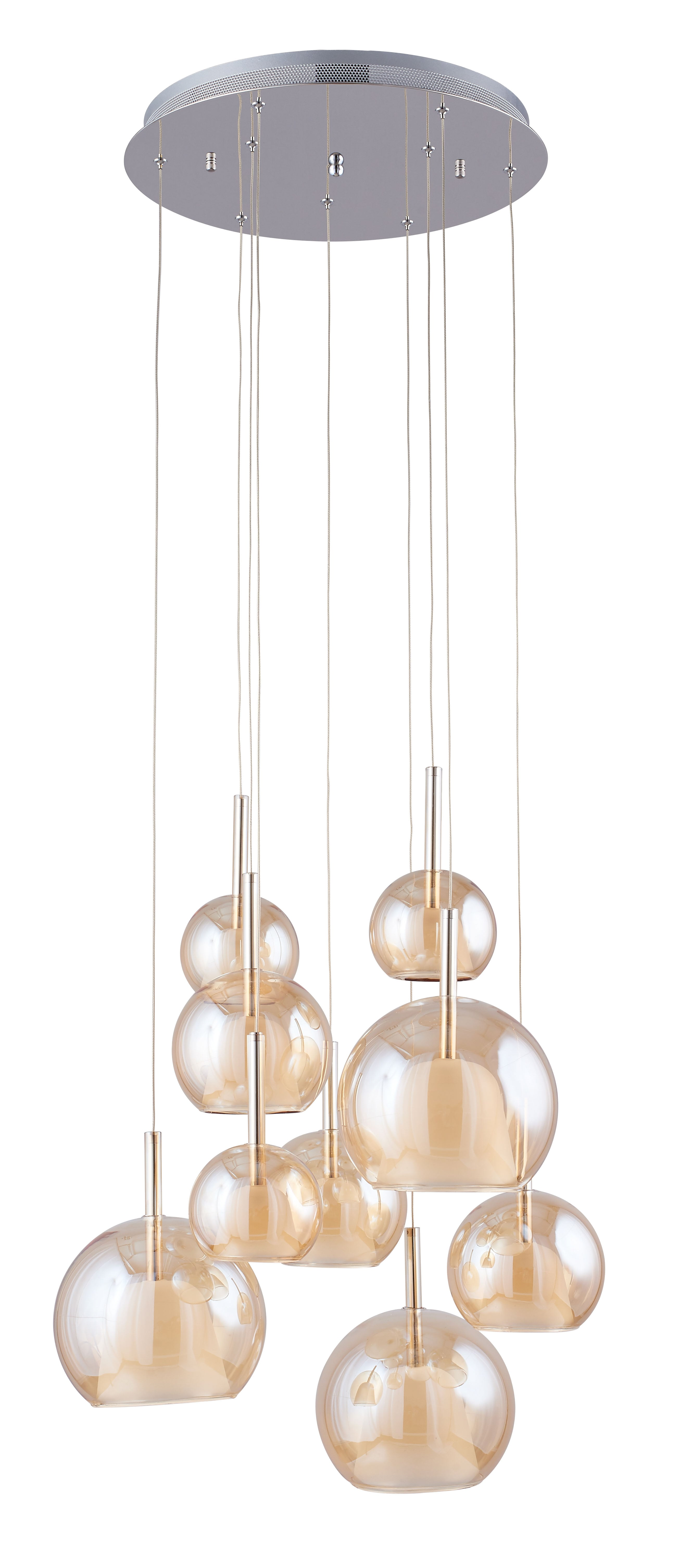Nine-point Bellissima chrome / Champagne G4 20W pendant lamp