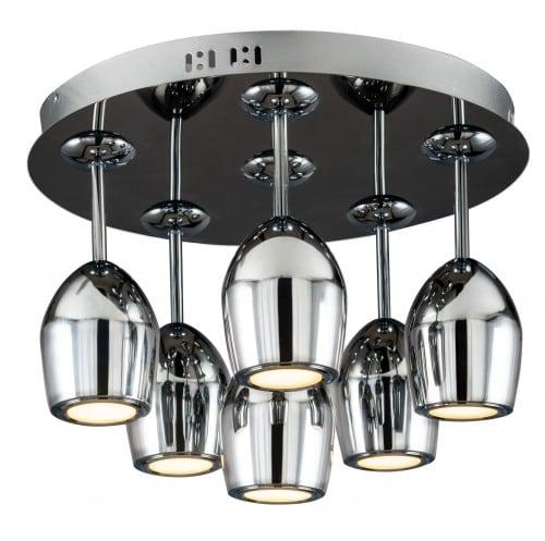 Modern Plafon Merlot chrome LED 5W