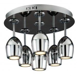 Nowoczesny Plafon Merlot chrom LED 5W