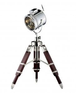 Loftowa Lampa podłogowa Movie aluminium/ wenge E27 60W