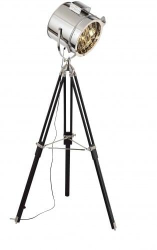 Floor Standing Spotlight aluminum / black E27 60W
