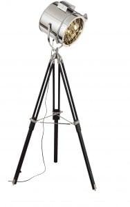 Lampa podłogowa stojąca Spot Light Movie aluminium/ czarny E27 60W