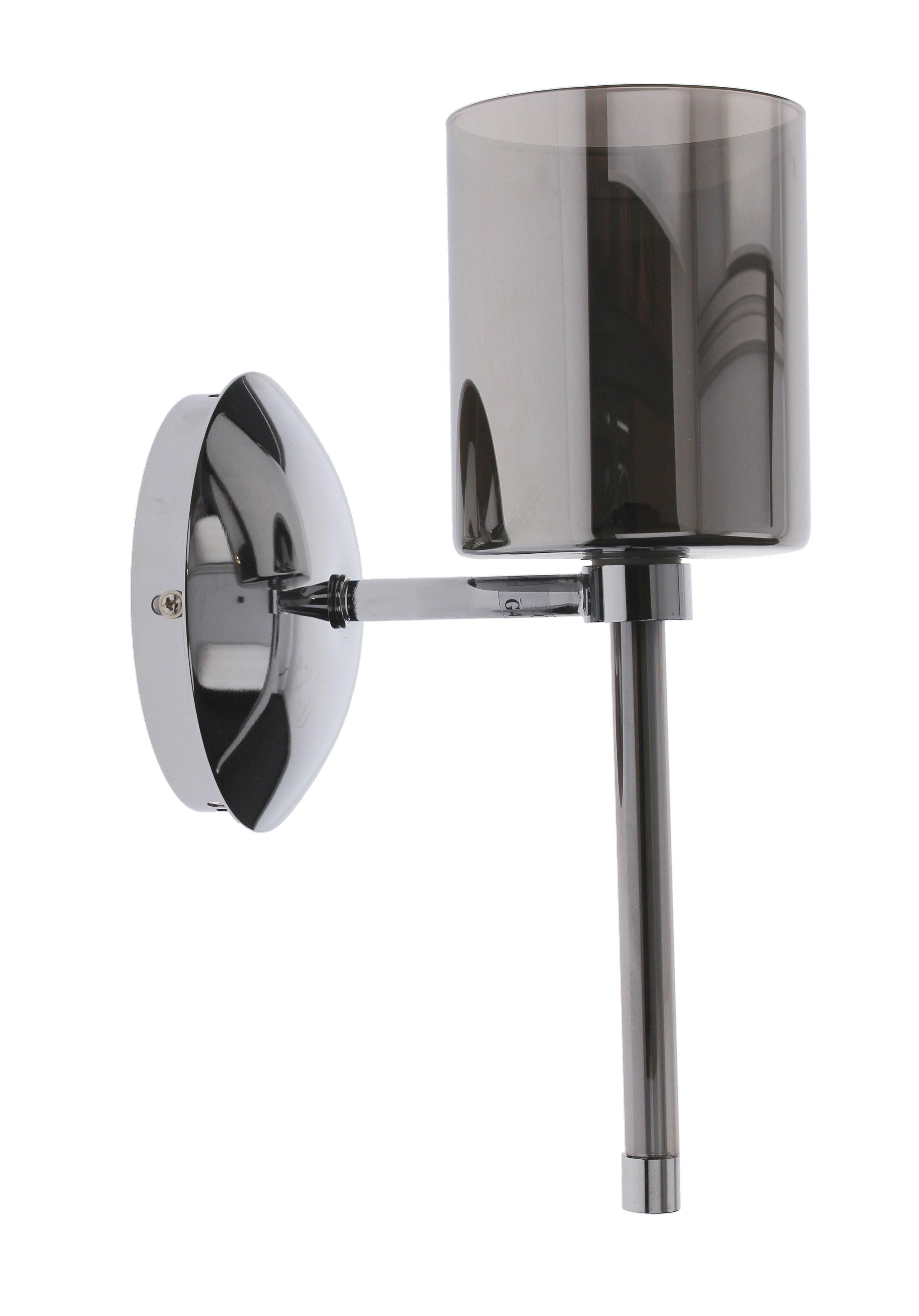 Chrome Flaconetta Wall light gray G4 20W lampshade
