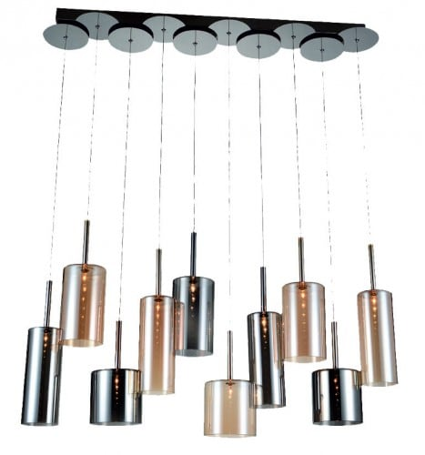 Ten-point Flaconetta chrome / Champagne / Gray G4 20W hanging lamp