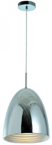 Industrial chrome suspended lamp Mads E27 60W