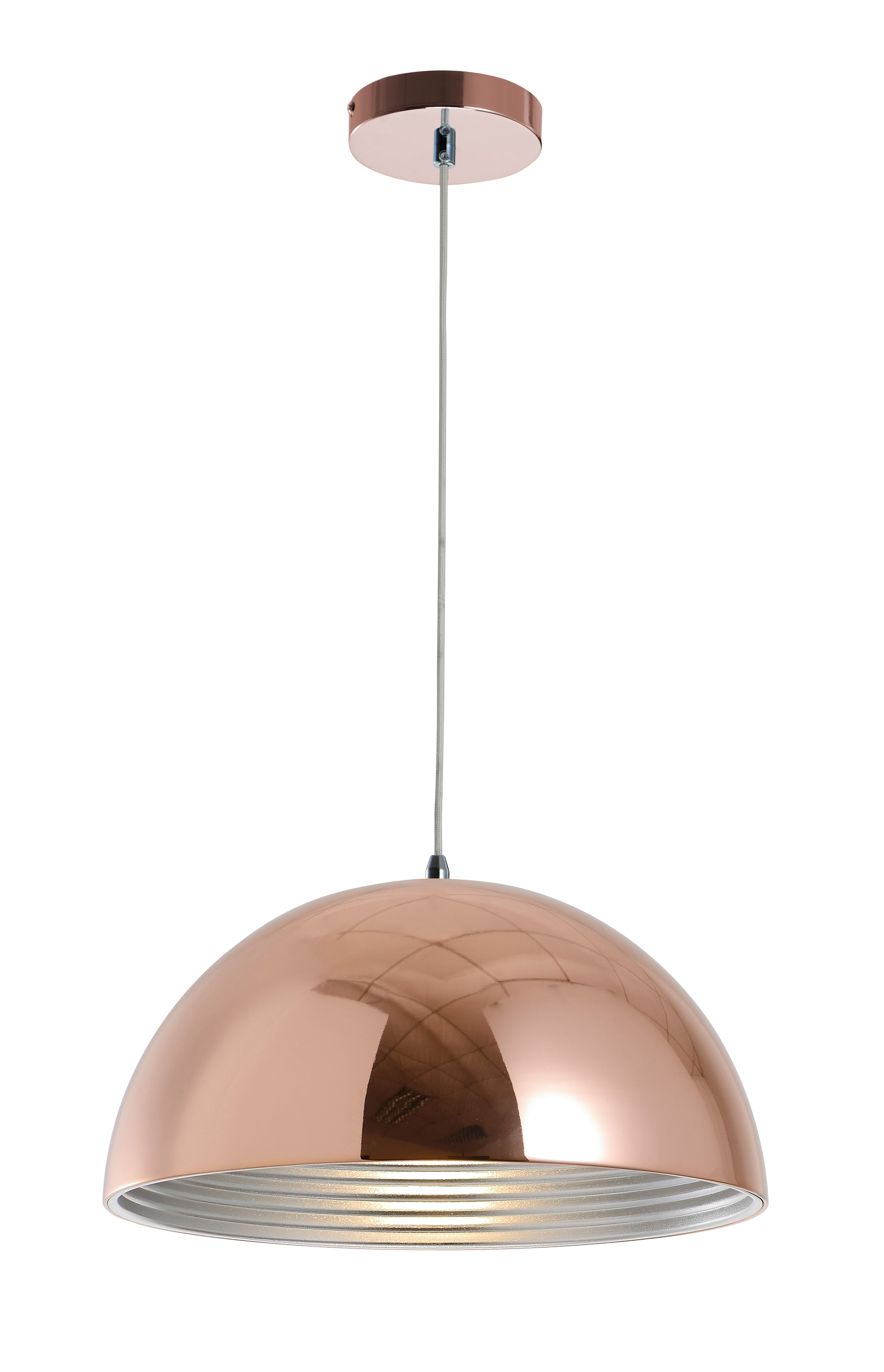 Copper hanging lamp Mads E27 60W