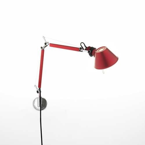 Wall lamp Artemide Tolomeo Micro Wall red A010910 + A025150