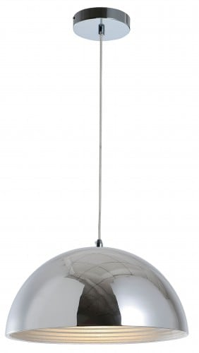 Hanging loft lamp Mads chrome E27 60W