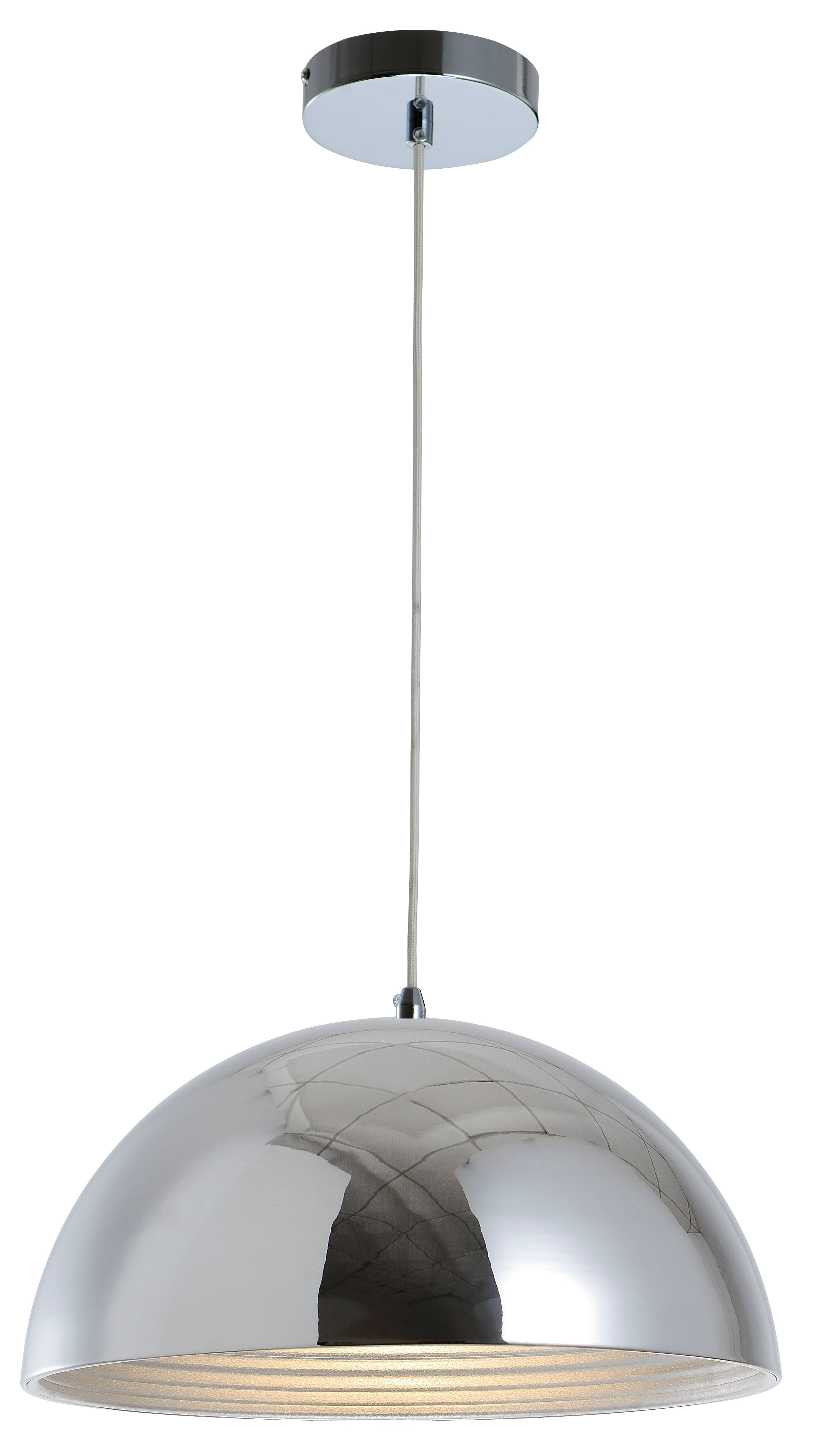 Hanging loft lamp Mads chrome E27 60W