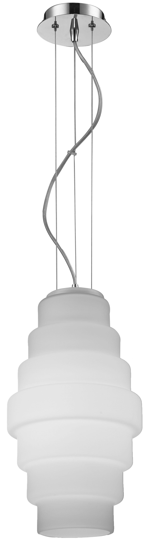 Modern pendant lamp Britt chrome / white E27 60W