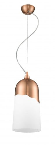 Modern hanging lamp Daga Klosz-copper / white E27 60W
