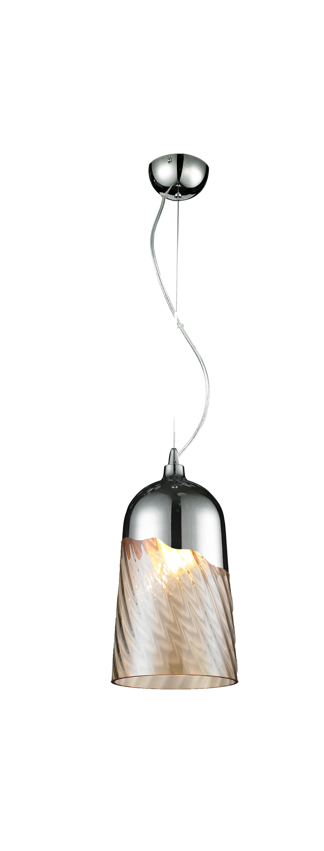 Modern hanging lamp Daga Klosz- chrome / transparent E27 60W
