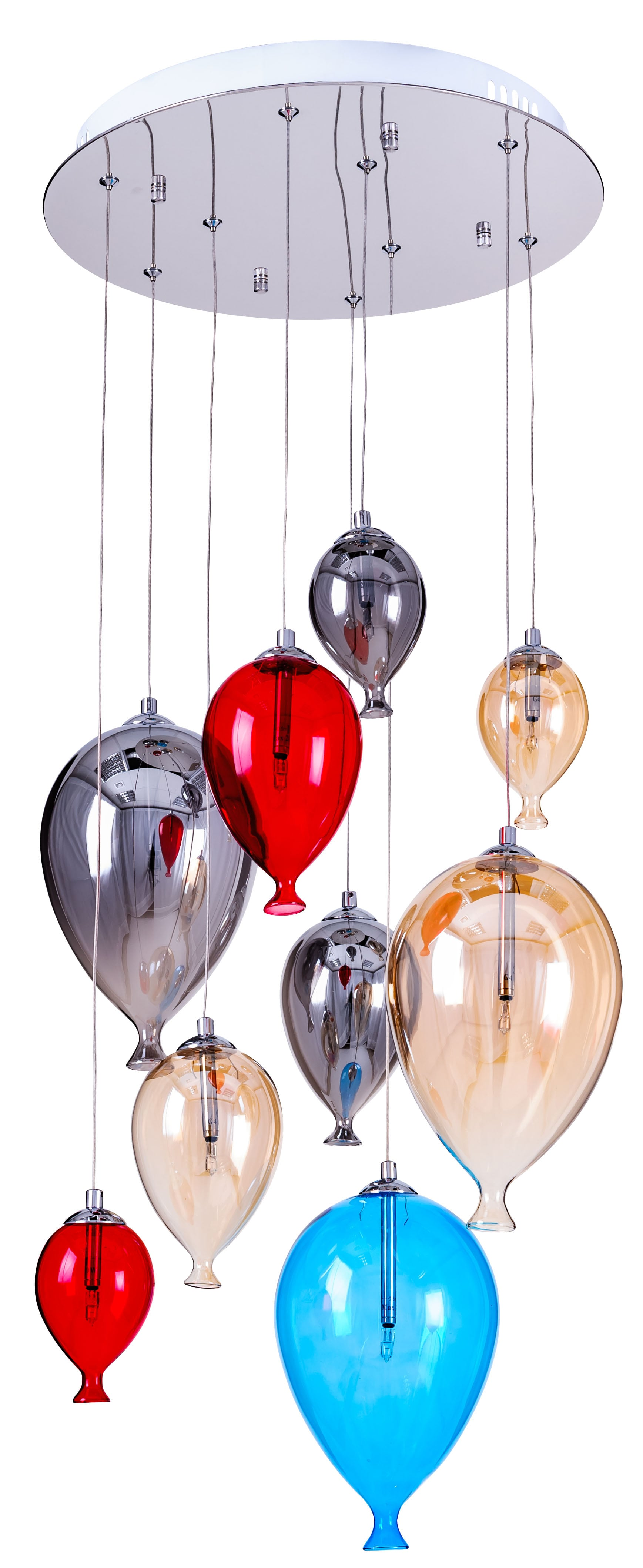 lamp children's hanging balloons - Balloon multicolor 160cm / 40cm 9xG4 20W
