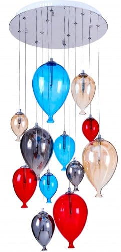 Hanging lamp for baby balloons - Balloon multicolor 160cm / 45cm 12xG4 20W