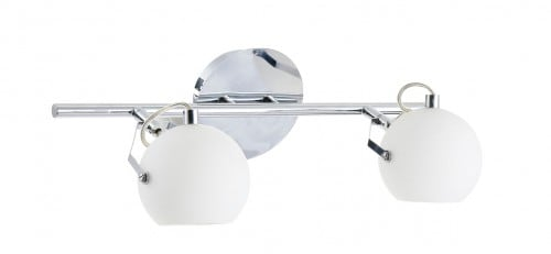 Double white Ida Wall lamp chrome / white LED 3W