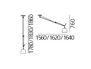 Artemide Tolomeo Decentrata Suspension Diffusor 0629000A (Parchment, Lampshade 36cm) small 2