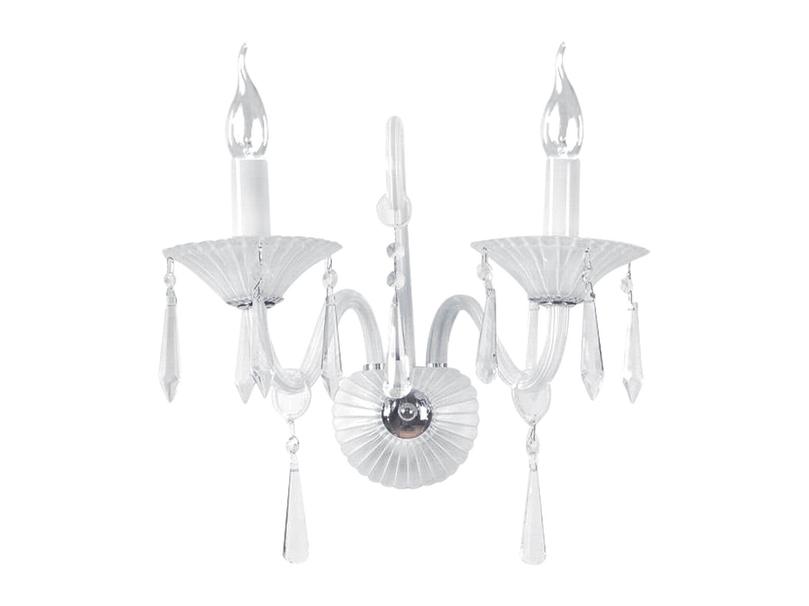 Luxury double Rosone white E14 40W