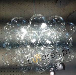 Nowoczesna Lampa wisząca Grape chrome / silver / transparent G9 28W small 1