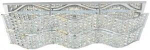 Szykowny Plafon Spindle chrom LED 16W