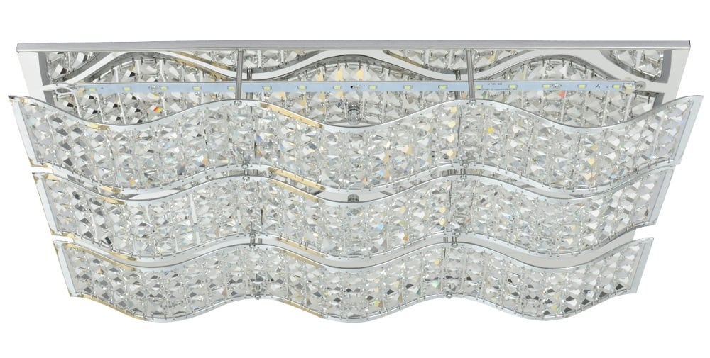 Exquisite Spindle ceiling lamp LED 24W chrome