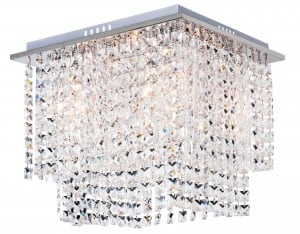 Luksusowy Plafon Euphoria chrom E14 40W