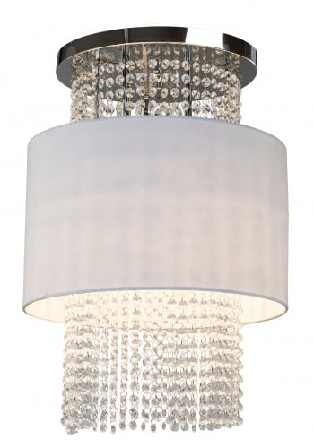 Plafond cascade Waterfall white / chrome E14 40W