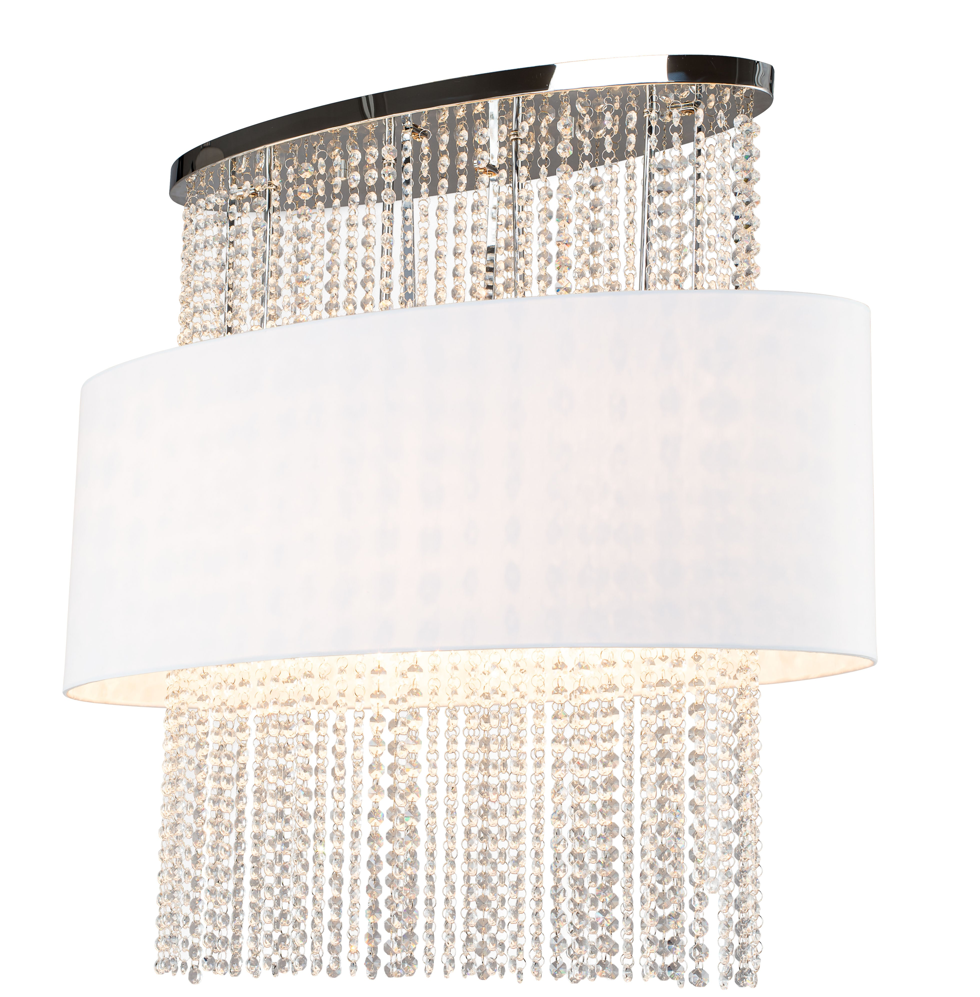 Luxurious Plafon Waterfall white / chrome E14 40W
