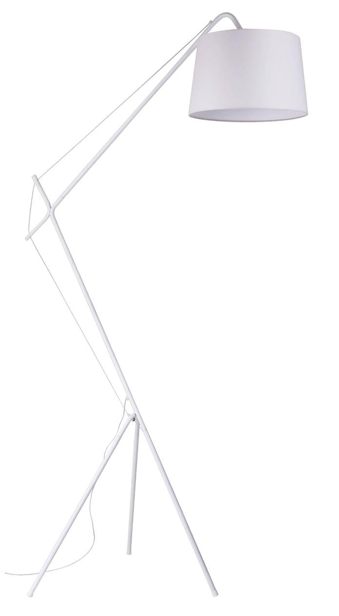 White Floor lamp Alvin E27 60W