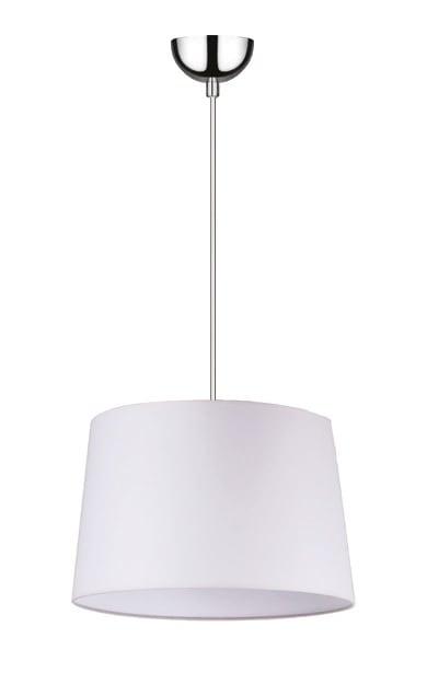 White Hanging lamp Alvin / chrome E27 60W