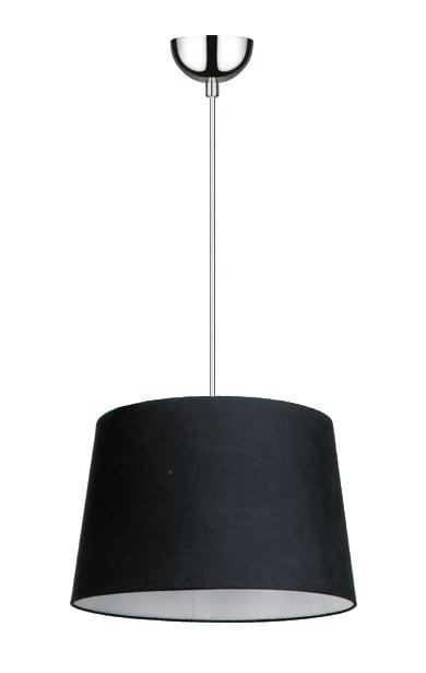 Black Pendant lamp Alvin / chrome E27 60W