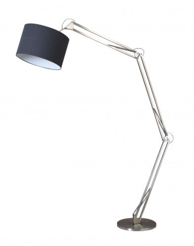 Chrome Mirani floor lamp chrome / black E27 60W