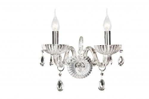 Double wall lamp Queen transparent E14 40W