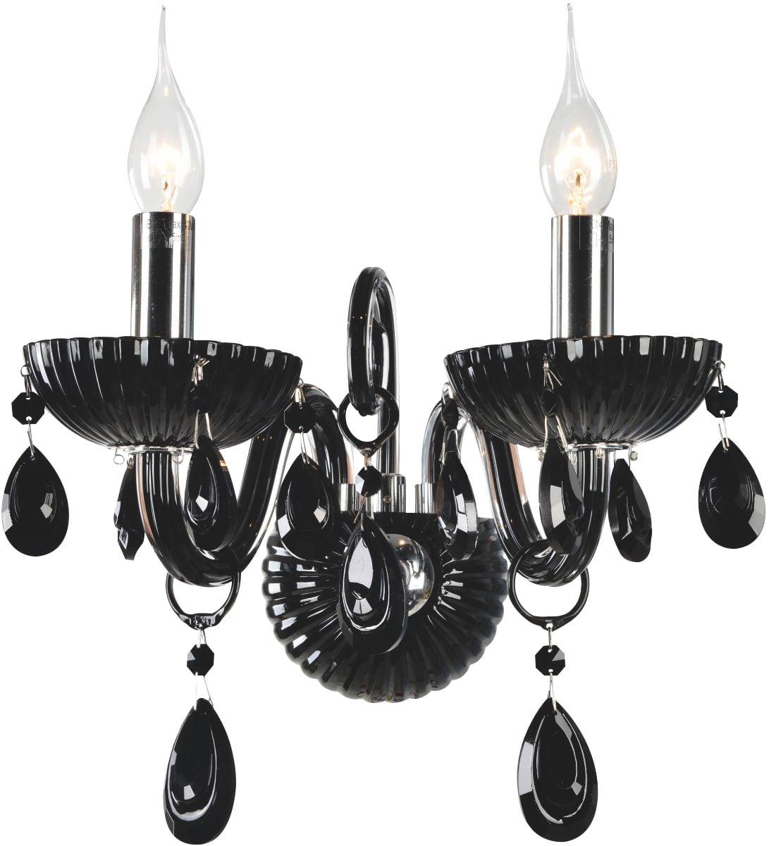 Double wall lamp black Queen E14 40W