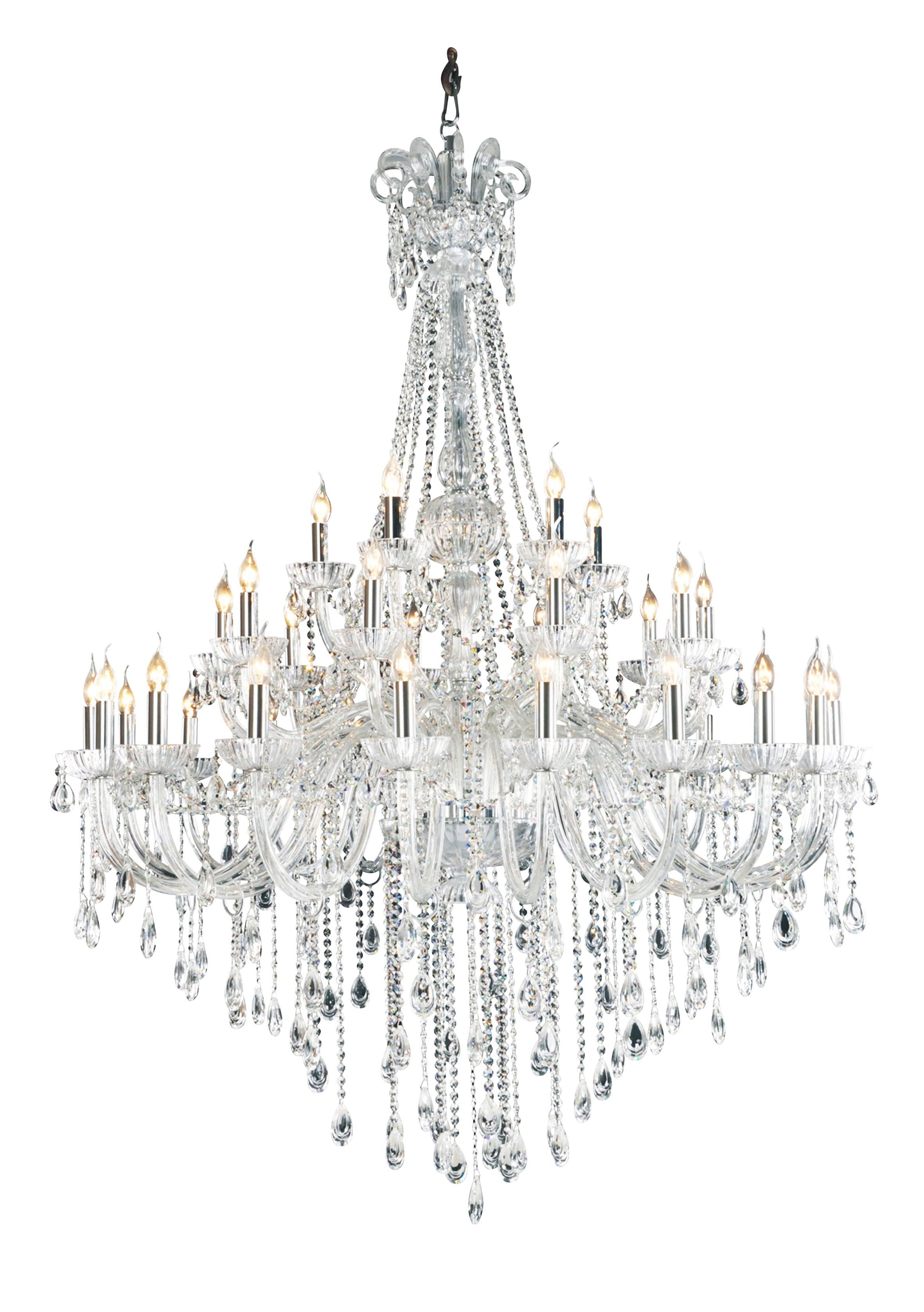 Royal Queen Chandelier transparent E14 40W