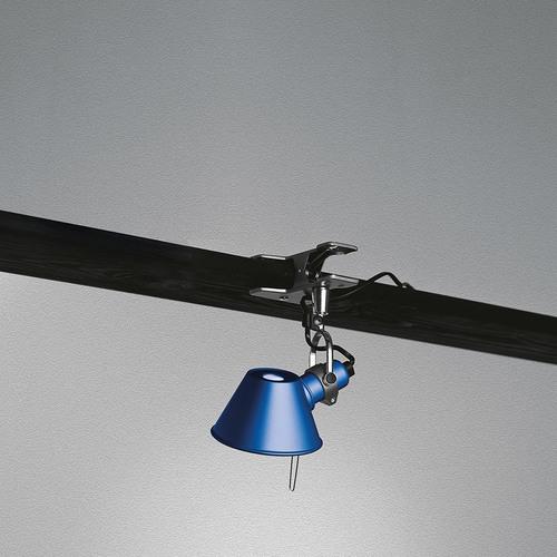 Portable lamp Artemide Tolomeo Micro Pinza A010850 blue