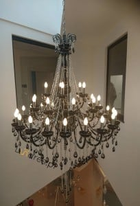 Luxurious Queen Chandelier black E14 40W small 1