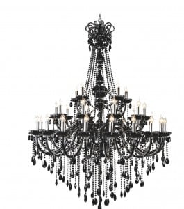 Luxurious Queen Chandelier black E14 40W small 0