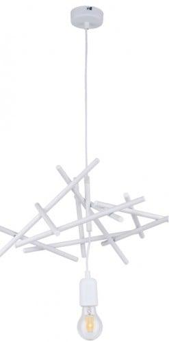 Industrial white pendant lamp Glenn E27 60W
