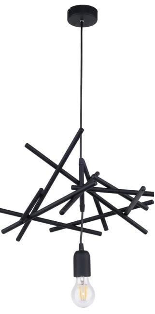 Black loft pendant lamp Glenn E27 60W