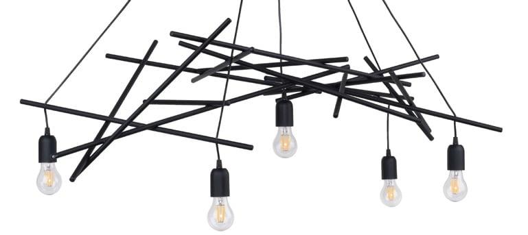 Suspension Lamp Glenn black E27 60W