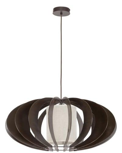 Exclusive hanging lamp Keiko wenge / cream E27 60W