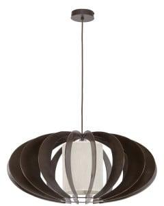 Ekskluzywna Lampa wisząca Keiko wenge/ kremowy E27 60W