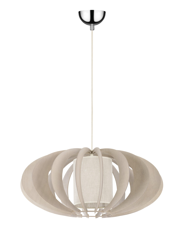 Exclusive hanging lamp Keiko brzoza bielona / cream E27 60W