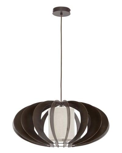 wenge / cream Keiko Hanging lamp E27 60W