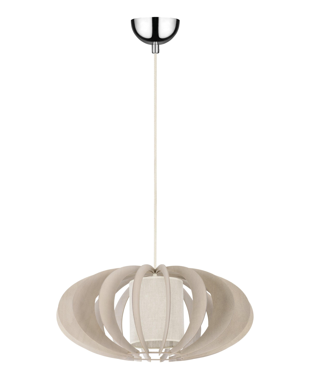 Hanging lamp Keiko brzoza bielona / cream E27 60W