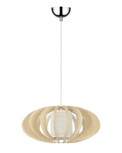 Pendant lamp Keiko birch natural / cream E27 60W
